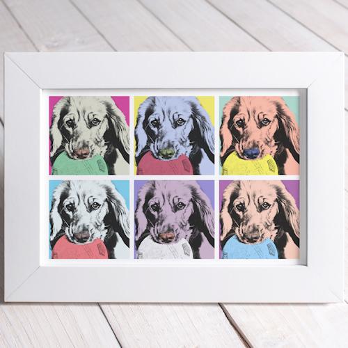 Pet Pop Art Portraits Dog Prints Cat Canvas